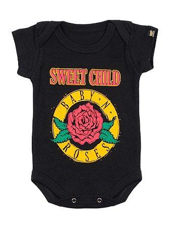 Body Bebê Baby N Roses Preto