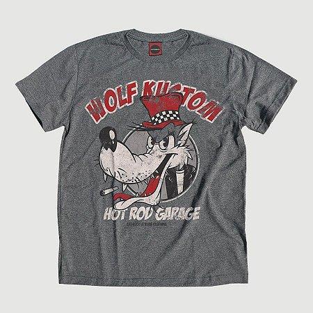 Camiseta Juvenil Wolf Custom Grafite.