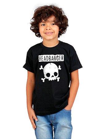 Camiseta Infantil Headbanger Preta
