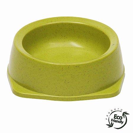 Bebedouro e Comedouro Para Cachorro Biodegradável Verde
