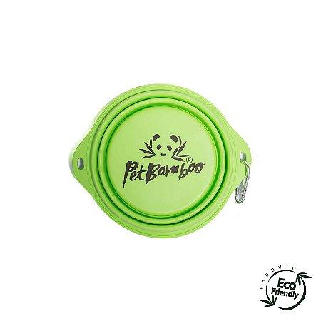 Bebedouro e Comedouro Para Cachorro Portátil de Silicone - Médio