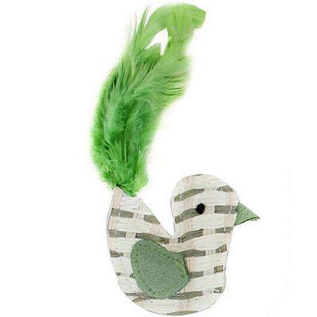 Brinquedo Para Gato Ecológico Pássaro Verde