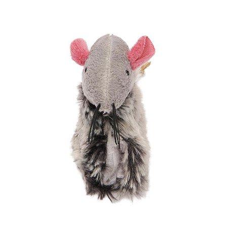 Brinquedo Para Gato Rato Cinza