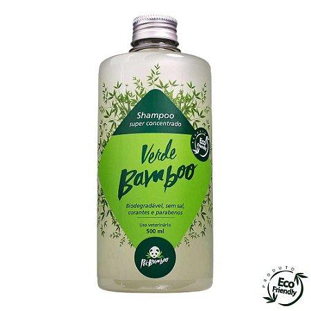 Shampoo Verde Bamboo biodegradável para cães e gatos - 500ml