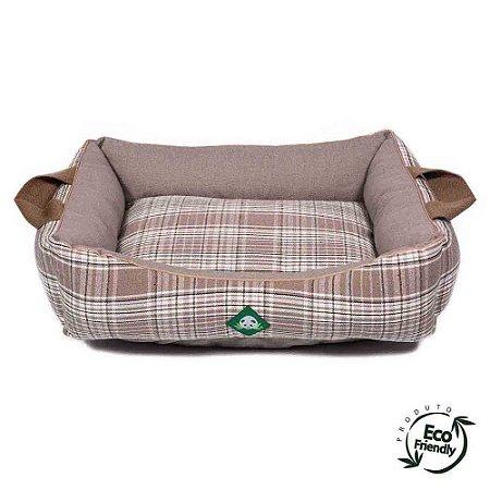 Cama Ecológica Para Cachorro - Xadrez Caqui