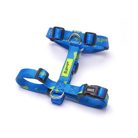 Peitoral H Para Cachorro PetBamboo - Azul