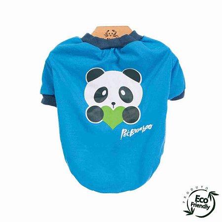 Camiseta Malha Ecológica - Azul