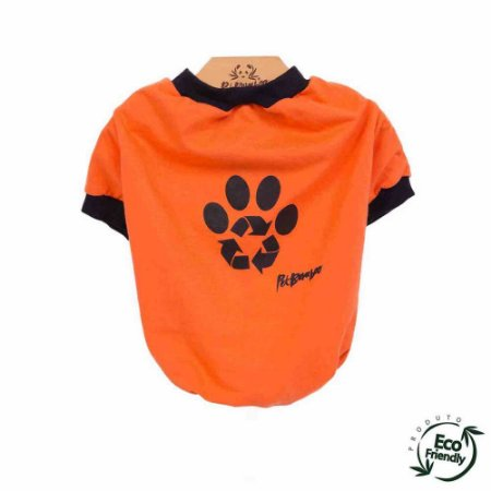 Camiseta Malha Ecológica Recicle - Laranja