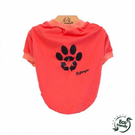 Camiseta Malha Ecológica Recicle - Coral