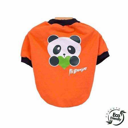 Camiseta Malha Ecológica - Laranja