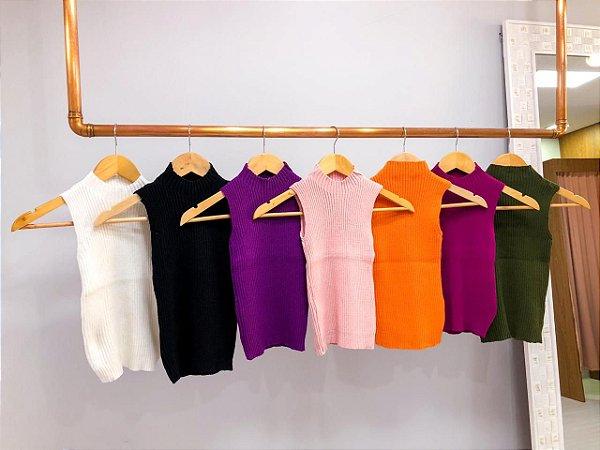Blusa Golinha Tricô Modal Cores