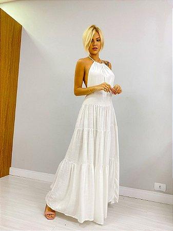 Vestido Frente Única Off White