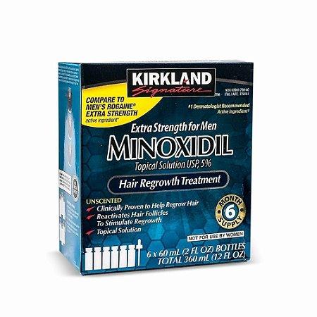 KIRKLAND MINOXIDIL 5% (1 CAIXA - 6 FRASCOS )