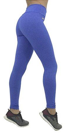 Calça Legging Esmufada no Azul e Branco