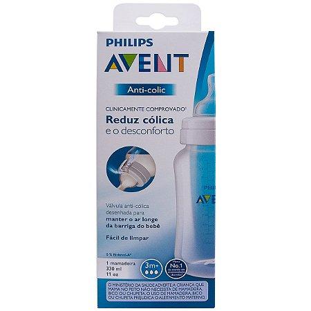 Mamadeira Clássica Anti-Colic Transparente - Philips Avent 330ml