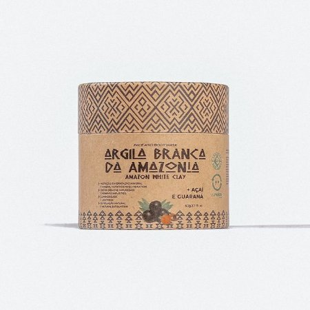 Argila Branca da Amazônia - Açaí e Guaraná
