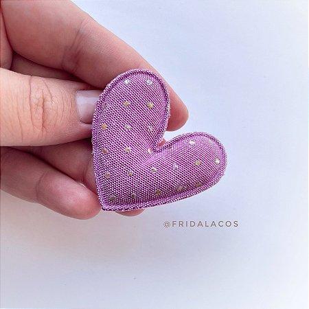 Coração Poá P (Presilha Antideslizante/Unidade)