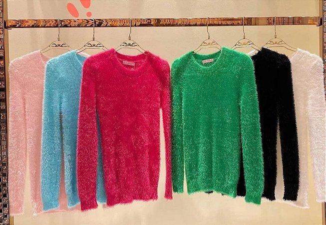 Blusa de pelinhos na cor pink, tamanho único que veste 42