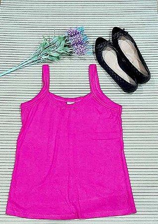 Blusa de alça de Viscolycra. Na cor pink
