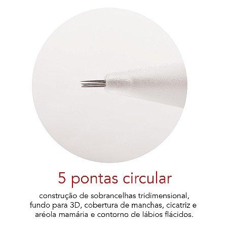 Agulha Rosca 5 Pontas Circular Mag Estética