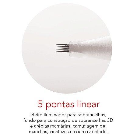 Agulha Rosca 5 Pontas Linear Mag Estética