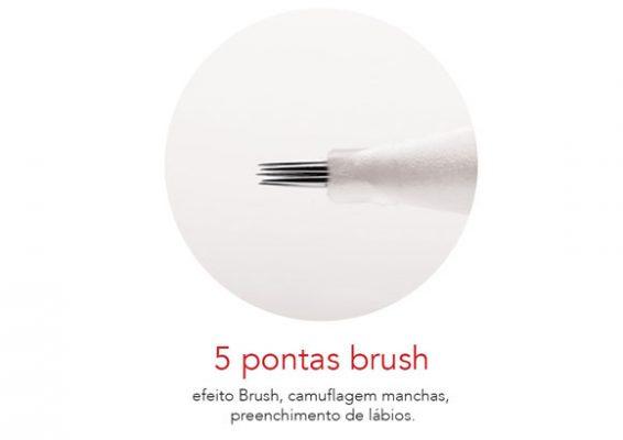 Agulha Rosca 5 Pontas Brush Mag Estética