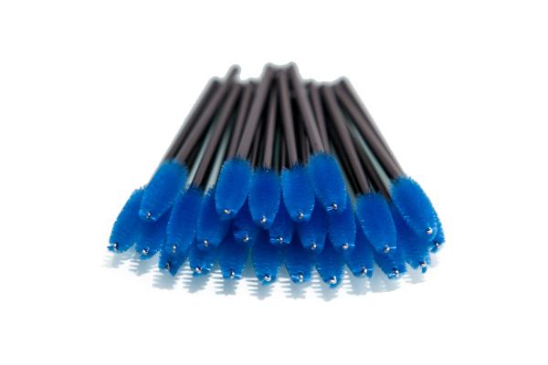 Escovinha para Cílios Descartável Azul 50 unid.