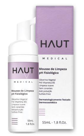 Mousse de Limpeza pH Fisiológico Haut Medical 150ml