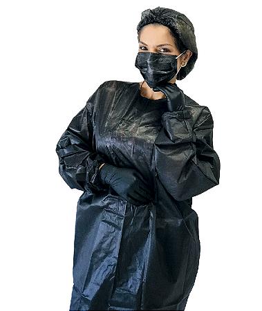 Avental Descartável TNT Black Protdesc c/10 unid 30G/m²