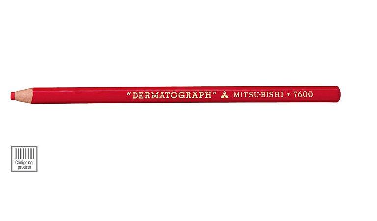 Lápis Dermatográfico Vermelho Mitsubishi 7600 Sertic
