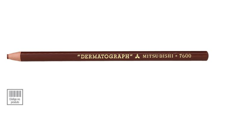 Lápis Dermatográfico Marrom Mitsubishi 7600 Sertic