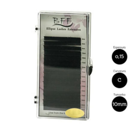 Cílios para Alongamento BFF Ellipse 0.15 C 10mm