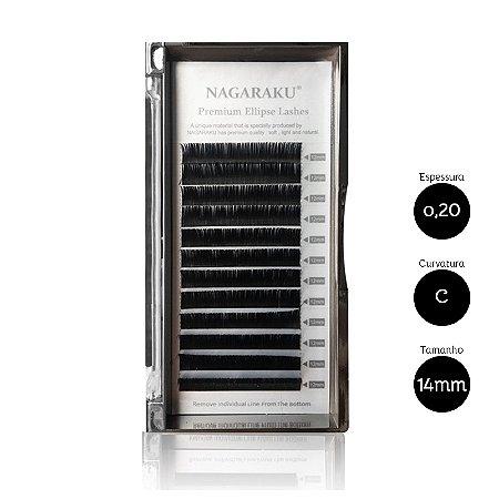 Cílios para Alongamento Nagaraku Ellipse Tesourinha 0.20 C 14mm