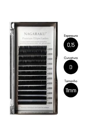 Cílios para Alongamento Nagaraku Ellipse Tesourinha 0.15 D 11mm