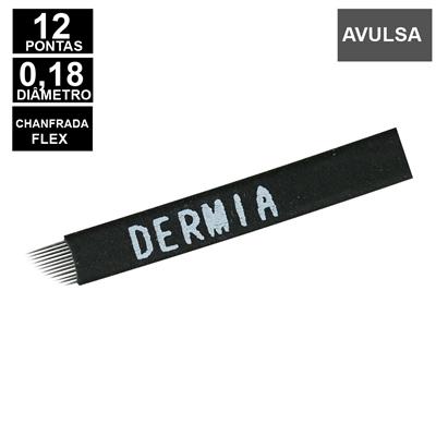 Lâmina Flex Dermia 12 pontas 0,18mm Nano