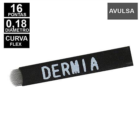 Lâmina Flex Dermia 16U pontas 0,18mm Nano