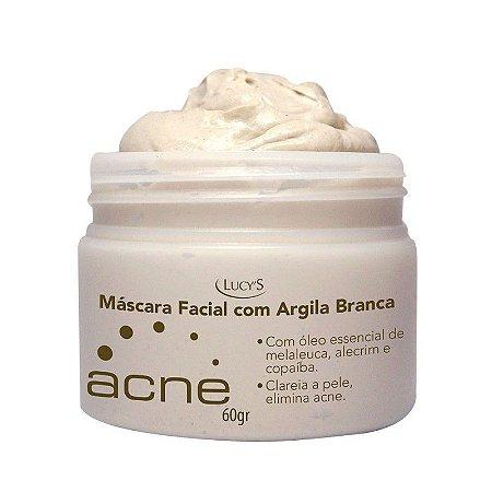 Máscara Facial Acne com Argila Branca e Óleos Essenciais 60gr