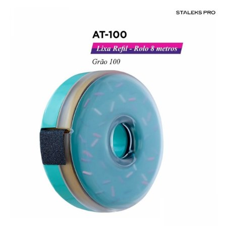 Lixa Refil em Rolo 8 Metros Gramatura 100 At-100 Staleks Pro