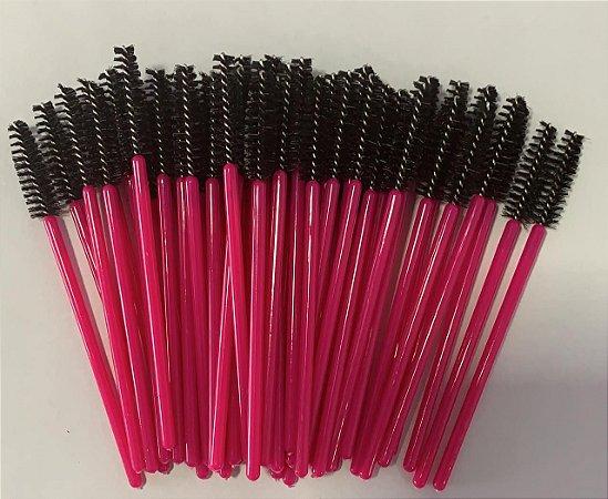 Escovinha para Cílios Descartável Pink Black 50 unid.
