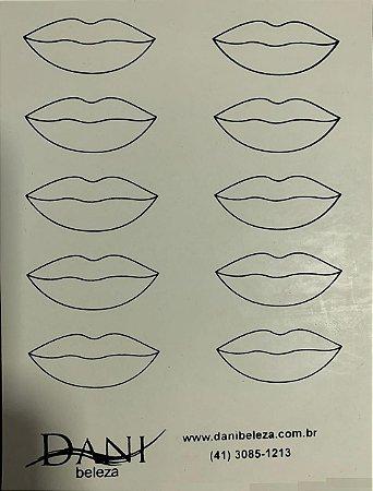 Pele Artificial Impressa Frente e Verso de Lábios Danibeleza
