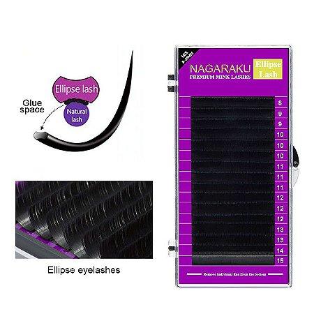 Cílios para Alongamento Nagaraku Ellipse 0.20 C Mix 8 ao 15mm