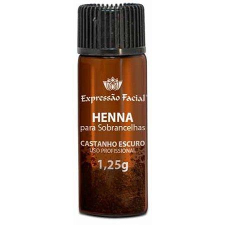 Henna de Sobrancelha Expressão Facial Pocket Castanho Escuro 1,25g