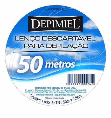 Lenço Descartável para Depilação Depimiel 50 Metros