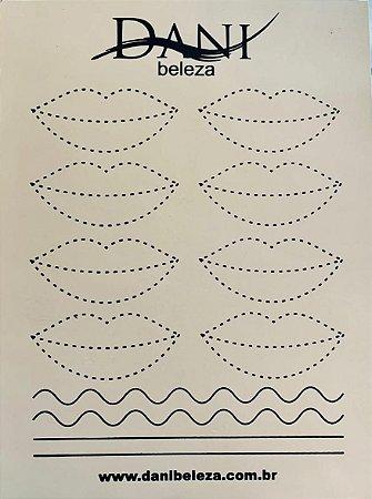 Pele Artificial Impressa Frente e Verso de Lábios 2 Danibeleza