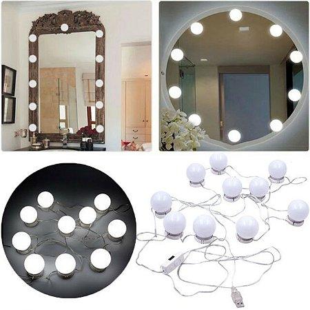 Luminária para Espelho Lâmpadas com Ventosas