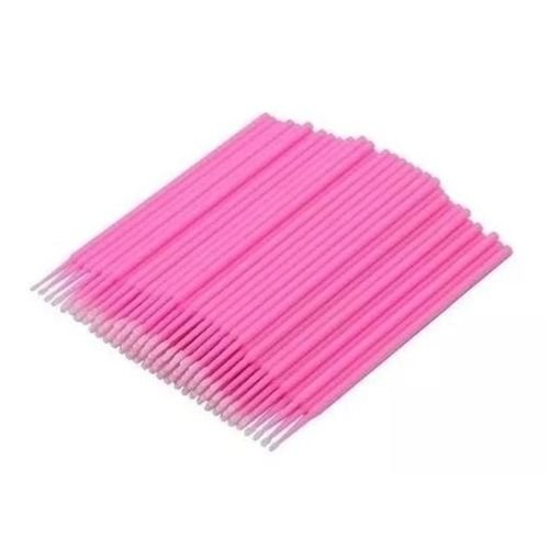 Microbrush Bastão Cotonetes Rosa Pacote com 100 unid.