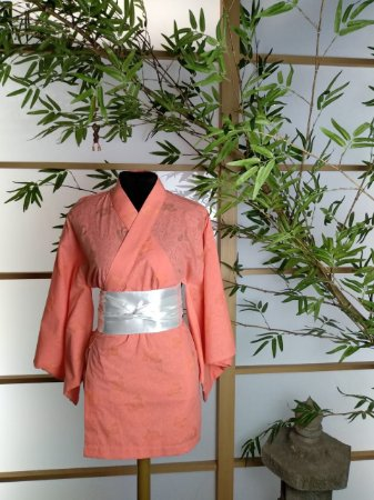 Kimono Curto Algodão Laranja