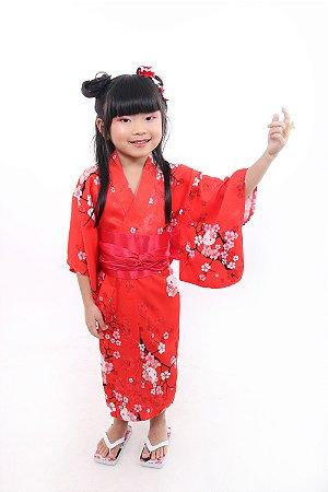 Kimono Vermelho Hello Kitty '19