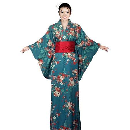 Kimono Longo Hello Kitty'19 Azul