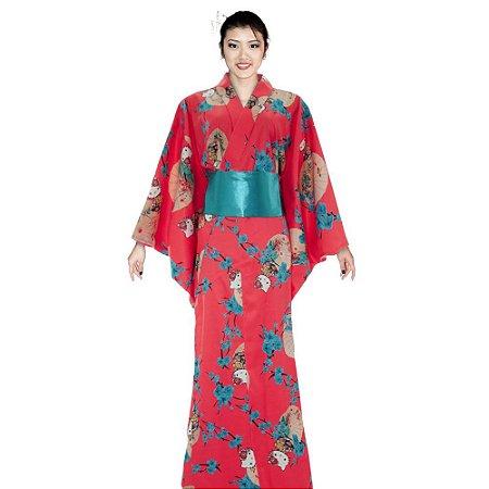 Kimono  Hello Kitty '18 Salmão